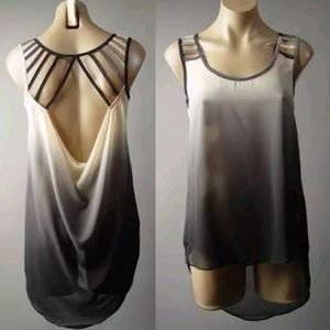ISO ombre draped back top in M